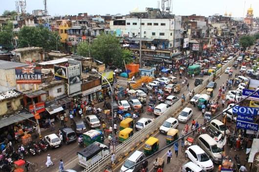 Chandni Chowk a busy street