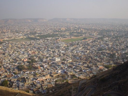 Arial View Of Pink City Jaipur