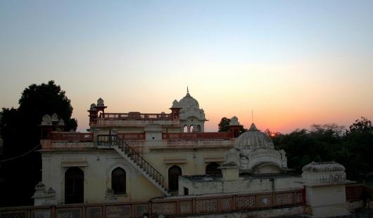 At evening moti bagh palace