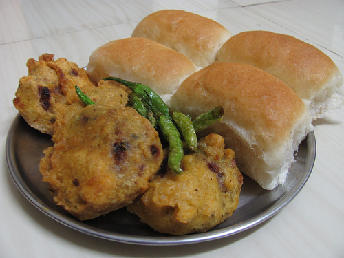 Local fast food - Vada pao