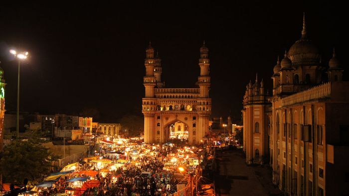 At Night Charminar