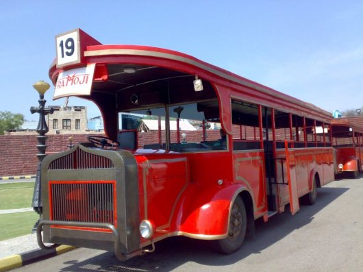 Tourist Bus At Ramoji film city Hyderabad