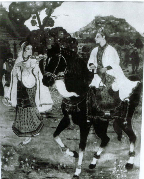 Painting Of Muhammad Quli Qutub And Queen Bhagmati