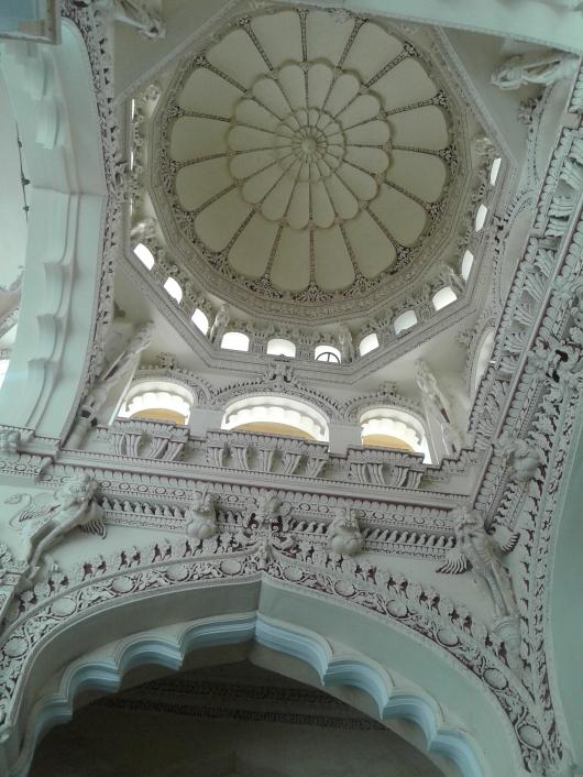 Carving On The Ceilings Thirumalai Nayakar Mahal