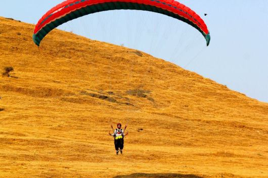 Acrobatic Paragliding at Kamshet Pune
